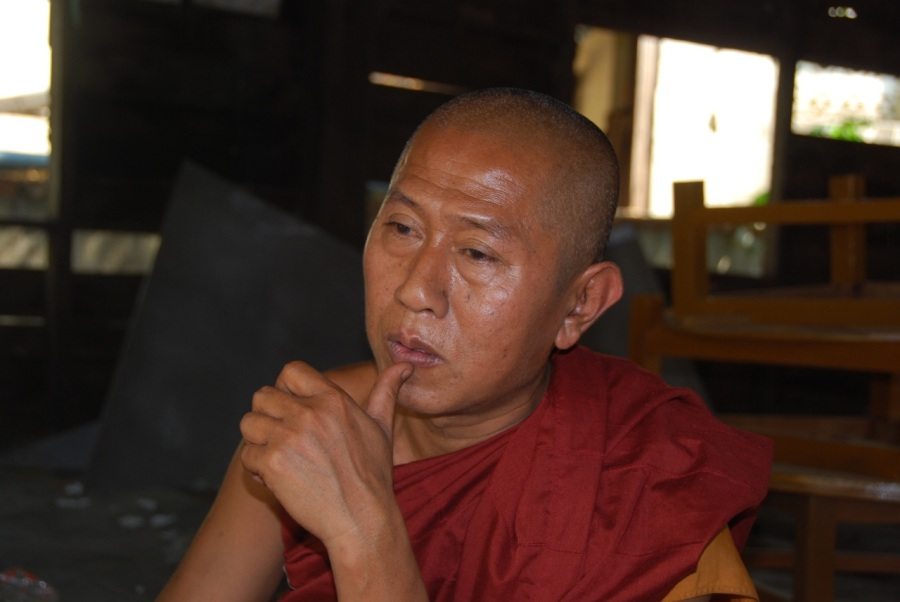 Abbot Ashin Eindaka at Maggin Monastery