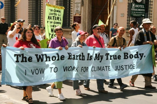 Climate March in Rome Following Buddhist-Catholic Dialogue